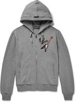 Dolce & Gabbana Appliquéd Cotton-Jersey Zip-Up Hoodie
