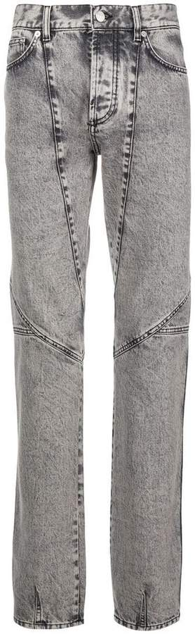 Givenchy panelled straight leg jeans