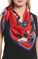 Vince Camuto Women's Tropic Floral Silk Square Scarf