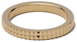 Le Gramme 18kt yellow polished gold Pyramid Guilloche ring