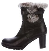 Henry Beguelin Chinchilla-Trimmed Ankle Boots