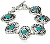 Lucky Brand Turquoise and Open Work Link Bracelet, 7.5""