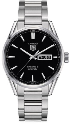 Tag Heuer Carrera 41MM Stainless Steel Automatic Day-Date Bracelet Watch
