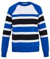Ami Crew-neck striped jersey sweater