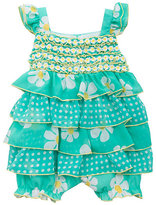 Rare Editions 3-24 Months Mixed-Media Printed Chiffon Romper