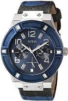 GUESS Women's U0458L2 Iconic Blue Camouflage Watch