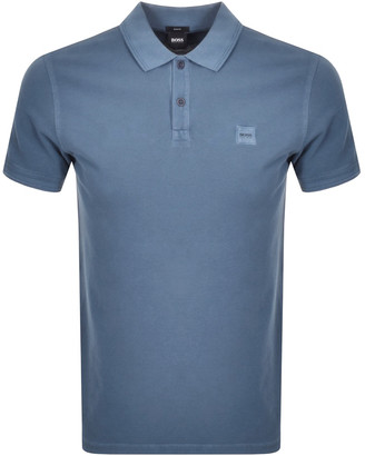 BOSS Prime Short Sleeved Polo T Shirt Grey
