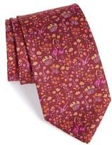 Salvatore Ferragamo Men's Floral Print Silk Tie