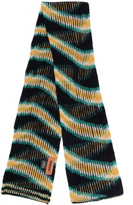 Missoni Stripe-Pattern Wool Scarf