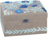 Lennon & Maisy Tapestry Jewelry Box, Medium, Blue