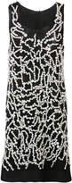 Vera Wang pearl embroidered tank dress