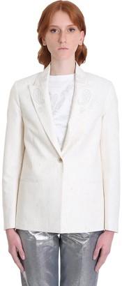Golden Goose Golden Blazer In White Polyester