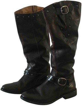 Golden Goose Brown Leather Boots