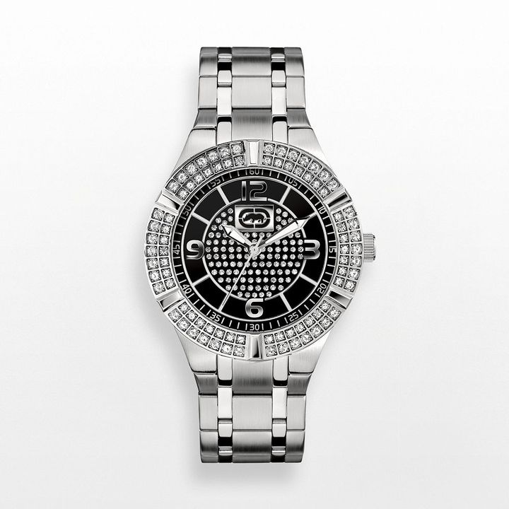 Swarovski Rhino by marc ecko rock steady stainless steel crystal watch - made with elements - e8m089mv - men