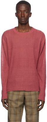 Our Legacy Red Regular Long Sleeve Sweatshirt