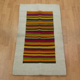 Novica Handcrafted Wool 'Joyous Color' Rug 2.5x4 (Mexico)