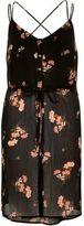 River Island Womens Black print strappy cami tunic