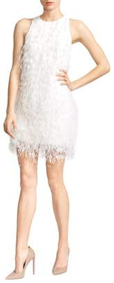 Ralph And Russo Feather Silk Crepe Cady Mini Dress