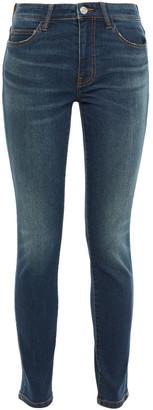 Current/Elliott Faded Mid-rise Skinny Jeans