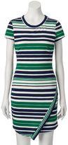 Almost Famous Juniors' Asymmetrical Striped Dress
