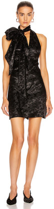 Givenchy Bare Back Short Collar Dress in Black | FWRD