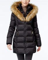INC International Concepts Faux-Fur-Trim Puffer Coat, Only at Macy's