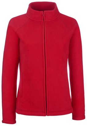 Fruit of the Loom Womens Lady Fit Outdoor Fleece Jacket Red L