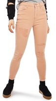 Topshop Petite Women's Jamie Super Rip Skinny Jeans