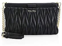 Miu Miu Women's Matelassé Leather Shoulder Clutch