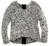 Vintage Havana Girls' Marled Back Zip Sweater - Big Kid