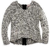 Vintage Havana Girls' Marled Back Zip Sweater - Sizes S-XL