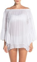 Women's Surf Gypsy Crochet Inset Ombre Cover-Up Top