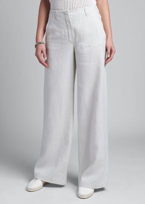 Loro Piana Harve Wide-Leg Linen Trousers
