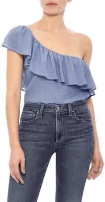 Joe's Jeans Gabby Ruffle One-Shoulder Top