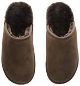 John Lewis Sheepskin Mule Suede Slippers