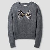 Cat & Jack Girls' Icon Pullover Cat & Jack - Dark Heather Grey