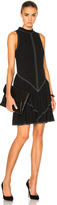 Wes Gordon Rock Neck Ruffle Dress