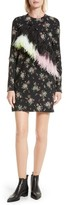 MSGM Women's Ostrich Feather Trim Floral Print Dress