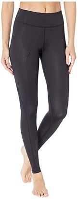 2XU Mid-Rise Compression Tights (Black/Dotted Black Logo) Women's Workout