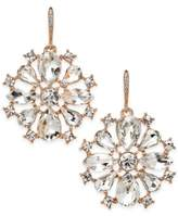 Charter Club Silver-Tone Clear & Pink Crystal Drop Earrings, Only at Macy's