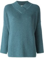 Lanvin oversize v-neck jumper - women - Wool/Yak - S