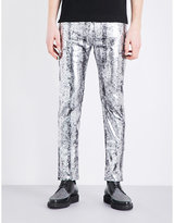 Mcq Alexander Mcqueen Strummer Coated Slim-fit Tapered Jeans