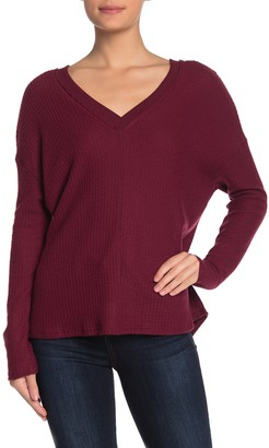 PST by Project Social T Long Sleeve V-Neck Thermal Top