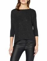 Only Women's Onlsensation 3/4 Glitter Top JRS Long Sleeve