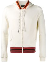 Raf Simons contrast detail hoodie