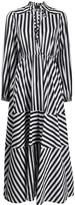 Pinko Striped Maxi Shirt Dress
