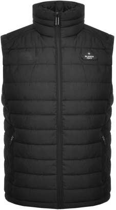 Superdry Padded Double Zip Gilet Jacket Black