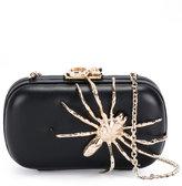 Corto Moltedo Susan C Star clutch bag - women - Calf Leather/Brass/Silk Satin - One Size