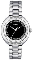 Timex Women's T2M595 Diamond Accented Silver-Tone Stainless Steel Bracelet Watch