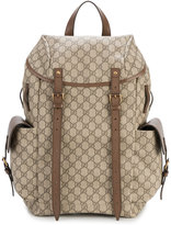 Gucci GG Supreme backpack - men - Cotton/Leather - One Size